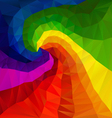 rainbow spectrum spiral polygon triangular pattern vector image vector image
