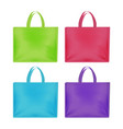 realistic 3d detailed color blank tote sale bags vector image vector image