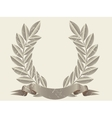 Retro laurel wreath vector image vector image