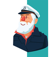 Sailor With A Beard vector image