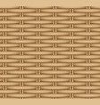 seamless texture of a wicker basket vector image vector image