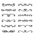 set calligraphic design elements and page decor vector image vector image