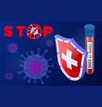 stop 2019-ncov coronavirus test tube vector image vector image