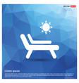 sun bathe on the chaise longue with umbrella icon vector image