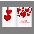 Valentines Party Flyer vector image vector image