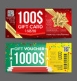 voucher coupon template design concept for vector image vector image
