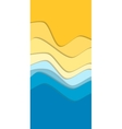 Yellow and blue curve wave line background vector image vector image