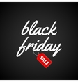 Black Friday Calligraphic lettering retro poster vector image