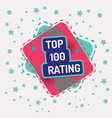 top 100 rating vector image