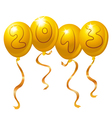 2013 new year balloons vector image vector image