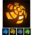 3d rotate emblems vector image vector image