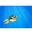 A fish with a big mouth under the ocean vector image vector image