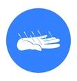 Acupuncture icon black Single medicine icon from vector image