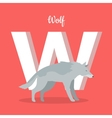 Animals Alphabet Letter - W vector image vector image