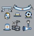 argentina soccer supporter gear set vector image vector image