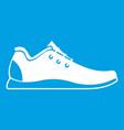 Athletic shoe icon white