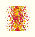 autumn border background vector image vector image