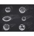 Ball sketch set with shadow and dynamic effect on vector image vector image