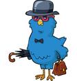 bird in hat vector image vector image