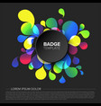 black badge tag template vector image vector image