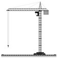 black outline of a high tower crane for an vector image vector image
