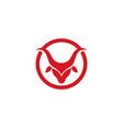 bull taurus logo template icon vector image