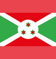 burundi flag eps10 vector image