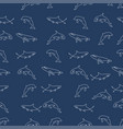 cetacea animal pattern seamless color vector image
