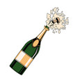 champagne bottle open pop art vector image vector image