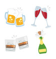 cheers clink glasses alcoholic beverages drink vector image