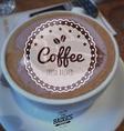 coffee badge vector image vector image