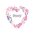 cosmetics on a white background vector image vector image