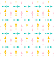 Cute geometrical arrow seamless pattern background vector image vector image