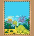 dinosaur theme parchment 1 vector image vector image