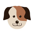 dog face animal head pet domestic vector image vector image