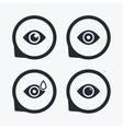 Eye signs Eyeball with water drop symbols vector image vector image