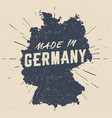 hand drawn made in germany stamp vector image vector image