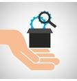 hand optimization technology engine vector image