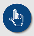 hand sign white contour icon vector image vector image