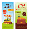 Harvest Farm Vertical Banners vector image vector image