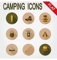 Hiking icons Camping vector image vector image