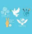 international day peace symbols vector image