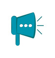 isolated megaphone icon vector image vector image