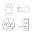 isolated object of cctv and camera icon vector image vector image