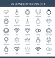 jewelry icons vector image vector image