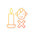 keep kids away from candles gradient linear