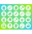 kitchenware shape carved flat icons set vector image