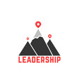 leadership like top summit logo vector image