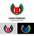 Logo letter B company design template vector image vector image