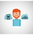man working icon vector image vector image